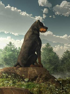 Breed Digital Art - Rottweiler  by Daniel Eskridge