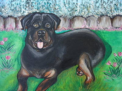 Painting - Rottweiler by Leslie Manley