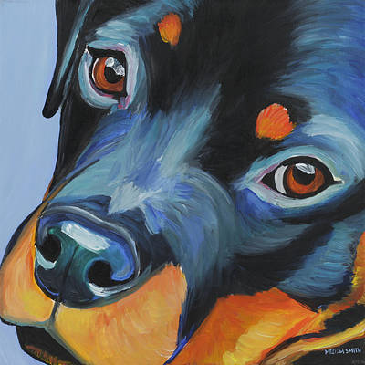 Rottweiler Painting - Rottweiler by Melissa Smith