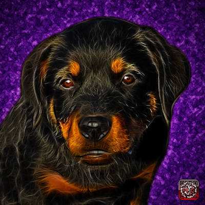 Painting - Rottweiler Pop Art 0481 - Bc1 - Purple by James Ahn