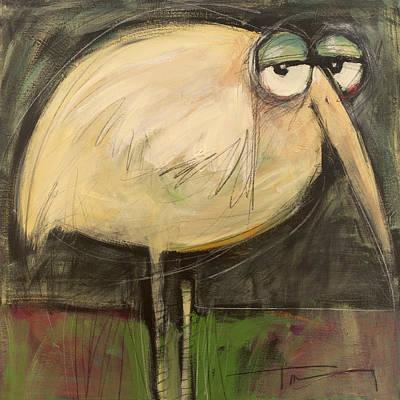 Rotund Bird Art Print by Tim Nyberg