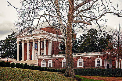 Photograph - Rotunda At Uva East Side by Jerry Gammon