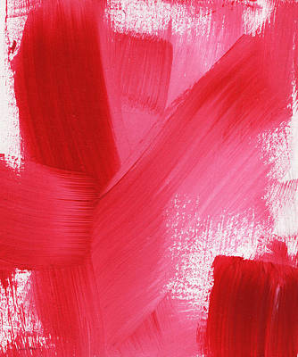 Royalty-Free and Rights-Managed Images - Rouge- vertical abstract painting by Linda Woods