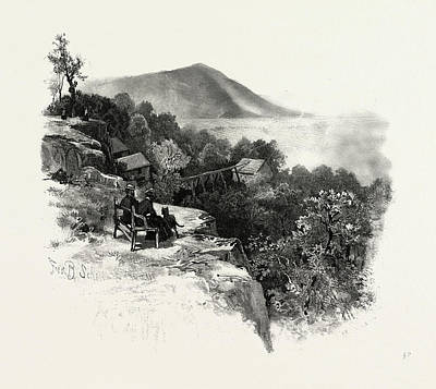 Vale Drawing - Rougemont And Valley, South Eastern Quebec by Canadian School