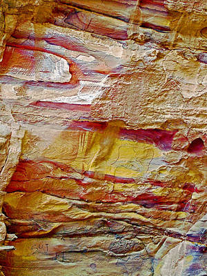 Rough And Red Rock In Petra-jordan  Original by Ruth Hager