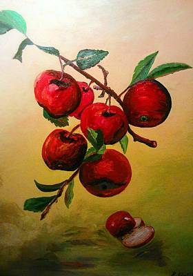 Painting - Rough Apples by Ray Khalife