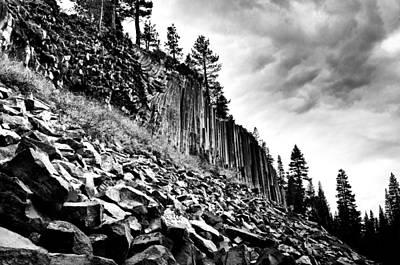 Devils Postpile Photograph - Rough Climb by Aron Kearney