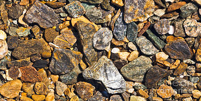Speckled Granite Photograph - Rough Gravel Geologic Natural Background Pattern by Stephan Pietzko