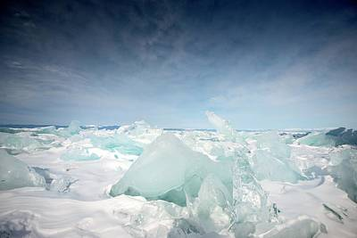 Siberia Photograph - Rough Ice by Louise Murray