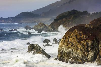 Photograph - Rough Ocean Weird Colour by Susan Leonard