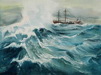Painting - Rough Seas by Richard Mordecki