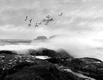 Art Print featuring the photograph Rough Seas by Roy  McPeak