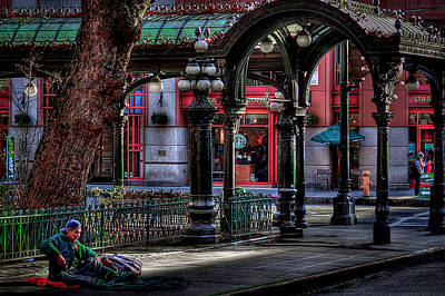 Photograph - Rough Times In Seattle - The Pergola In Pioneer Square by David Patterson