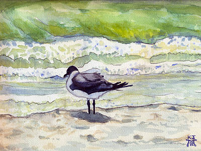 Painting - Rough Waters Ahead by Katherine Miller