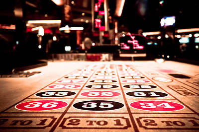 Photograph - Roulette Table by Anthony Doudt