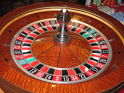 Roulette Wheel And Chips Art Print by Tom Conway