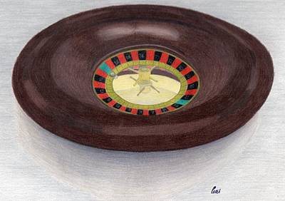 Roulette Wheel Art Print by Bav Patel