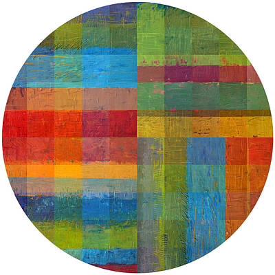 Abstract Montage Painting - Round 2.0 by Michelle Calkins