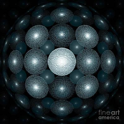 White Fractals Digital Art - Round And Round by Klara Acel