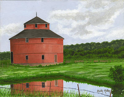 Painting - Round Barn by Dustin Miller