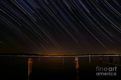 Round Bay Startrails Art Print by Benjamin Reed