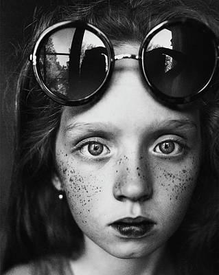 Round Glasses Reflection Art Print