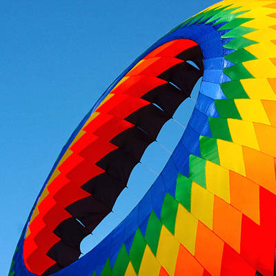 Morro Bay Ca Photograph - Round Kite by Art Block Collections