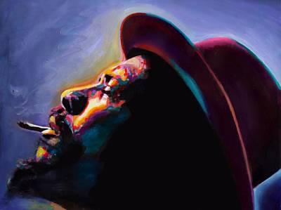 Jazz Poster Art Painting - Round Midnight Thelonious Monk by Vel Verrept