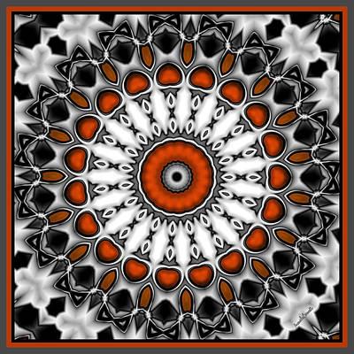 Digital Art - Round Red Eye by Marcela Bennett