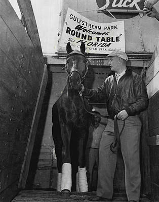 Round Table Vintage Horse Racing #1 Art Print