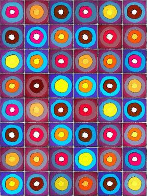 Painting - Round Up The Squares by Florian Rodarte