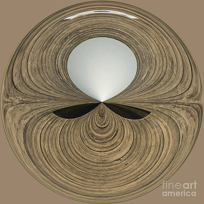 Manipulation Photograph - Round Wood by Anne Gilbert