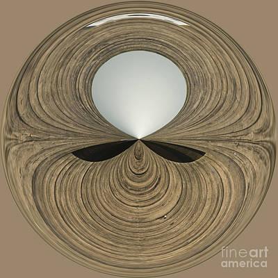 Round Wood Art Print by Anne Gilbert