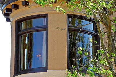 Sausalito Photograph - Rounded Victorian Window by Kirsten Giving