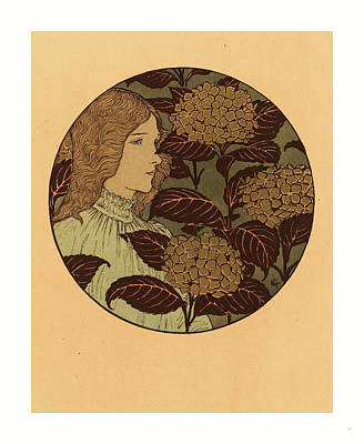 Roundel Portrait Of A Girl, French, 1841  1917 Art Print