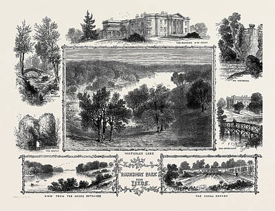 Garden Entrance Drawing - Roundhay Park Near Leeds The Mansion by English School