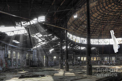 Roundhouse II Art Print by Julie Woodhouse