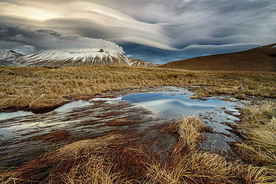 Autumn Field Wall Art - Photograph - Roundness Clouds by Riccardo Lucidi