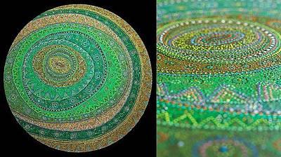 Rounds Art Print by Grass Hopper