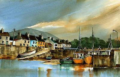 Eire Painting - Roundstone Evening Galway by Val Byrne