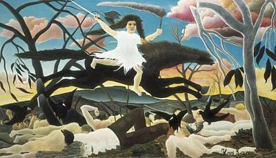 Rousseau, Henri 1844-1910. War Or Art Print