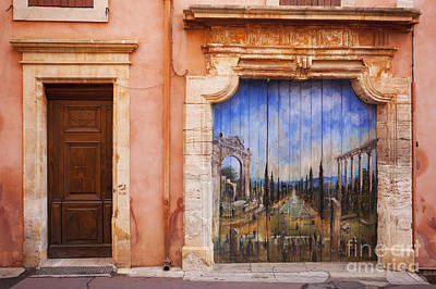Roussillon Door Art Print by Brian Jannsen