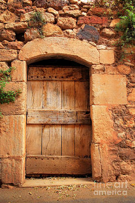 Entrance Door Photograph - Roussillon Door by Inge Johnsson