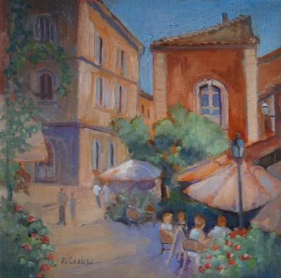 Terra Painting - Roussillon by Linda  Wissler