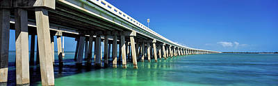 Sign In Florida Photograph - Route 1 Overseas Highway, Bahia Honda by Panoramic Images