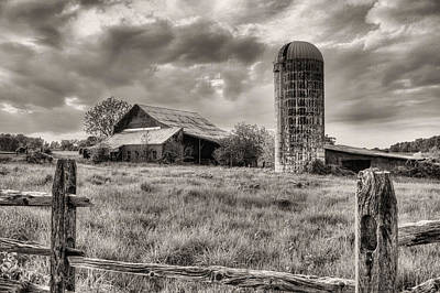 Photograph - Route 213 Black And White by JC Findley