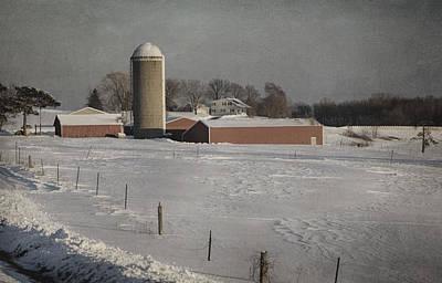 Route 45 Barn Art Print by Joan Carroll