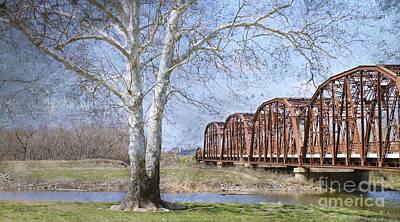 Process Digital Art - Route 66 Bridge by Betty LaRue