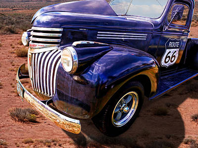 Chevrolet Pickup Photograph - Route 66 Chevy 1941 by Gill Billington