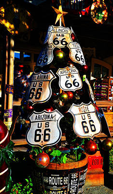 Photograph - Route 66 Christmas Tree by Lynn Bauer